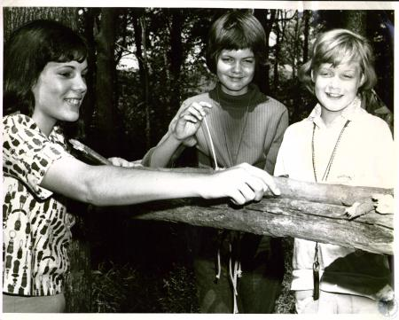 Image: di04372 - L to R, Barbara Thiel, 16, Judy Zimmerman, 10, Lois Osterhage, 11