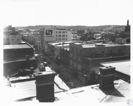 Image: di13272 - view from roof of Odd Fellow's Hall, looking south