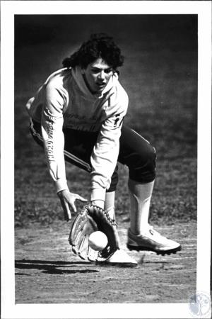 Image: di54333 - Girl softball player for Newport Central Catholic High School