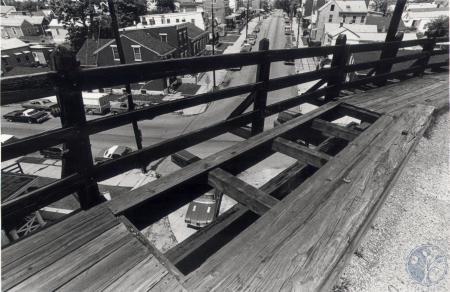 Image: di81259 - Looking through holes in the Wagon Bridge in Newport.